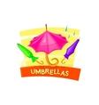 Umbrella concept design vector image