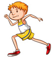 A simple drawing of a boy running vector image vector image