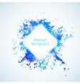 Abstract background with blue elements and drops vector image vector image