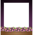 An empty paper template with a garden at the vector image vector image