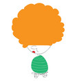 an orange-haired cute little cartoon kid or color vector image
