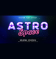 astro space text neon style editable text effect