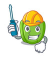 automotive green bell peppers isolated on mascot vector image vector image