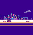 banner urban landscape traffic vector image