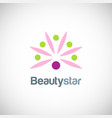 beauty star flower logo vector image vector image