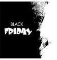 black friday big sale white ink splach vector image vector image