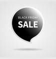 black friday sale isolated black tag vector image
