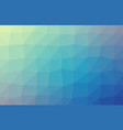 blue polygonal which consist of triangles vector image vector image