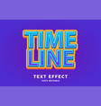 blue sticker text effect vector image vector image