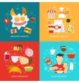 Breakfast Concept Icons Set vector image vector image