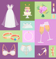 bridal accessories pattern vector image vector image