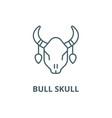 bull skull line icon bull skull outline vector image