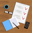 business planning and organization paperwork vector image vector image