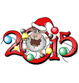 Chinese symbol lovely lamb 2015 year vector image