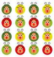 christmas deer seamless pattern cute deer animal vector image