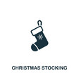 christmas stocking icon premium style design from vector image