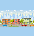 city landscape with modern houses vector image
