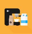 coffee maker element flat design vector image vector image