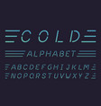 cold font alphabet vector image vector image