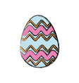 colored easter egg celebration spring party vector image vector image