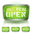 come in were open sign vector image vector image