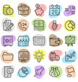 commerce money trendy icon pack eps10 vector image