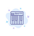 controller hardware keyboard midi music blue icon vector image vector image
