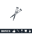 Crutches icon flat vector image vector image