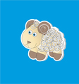 Curly lamb vector image