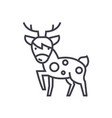 cute deer line icon sign o vector image
