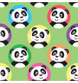 cute little panda seamless pattern vector image