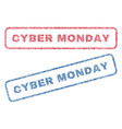 cyber monday textile stamps vector image