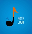 development of creative logos on a musical theme vector image vector image