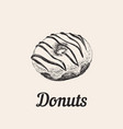donut hand draw vector image vector image