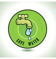 ecology concept - save water vector image vector image
