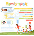 family sport infographic poster with parents and vector image vector image