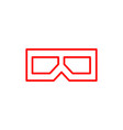 flat line 3d glasses icon vector image vector image