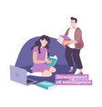 flat parenting concept vector image vector image