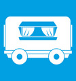 food trailer icon white vector image vector image