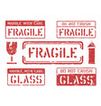fragile this way up handle with care do not vector image vector image