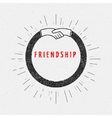 Friendship badges logos and labels for any use vector image vector image