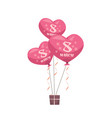 gift box with pink air balloons womens day 8 march