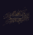 gold glitter shiny particles on a dark background vector image vector image