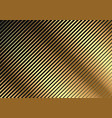golden diagonal striped pattern vector image vector image