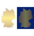 golden dot germany map vector image