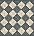 grey and beige seamless chess styled vintage vector image vector image