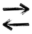 hand drawn brush arrow vector image