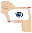 Hands and Eyes vector image vector image