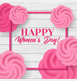 happy womens day greeting card template vector image