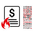 hot price list icon with 90 bonus pictograms vector image